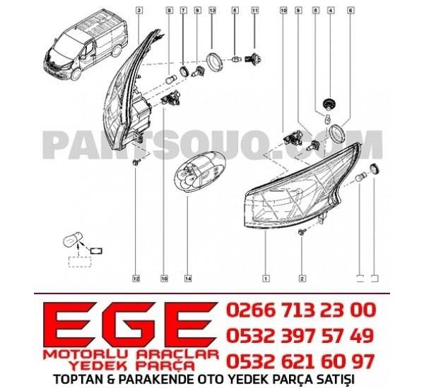 FAR PLASTİK KAPAĞI TRAFIC III 260295278R