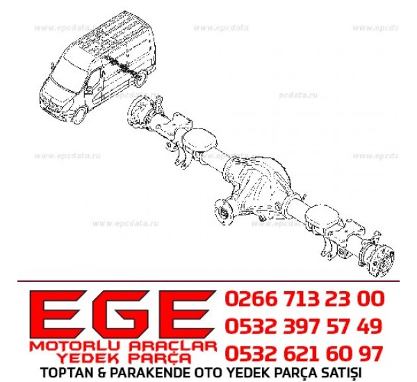 RENAULT MASTER III ARKA DİNGİL ORJİNAL 383004913R